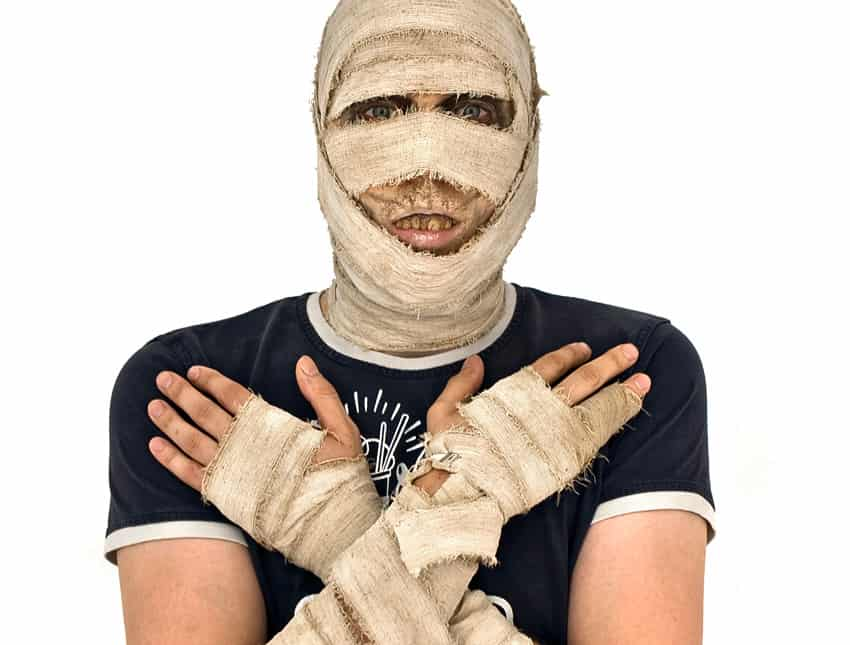 Mumien Kostüm ganz einfach selbermachen