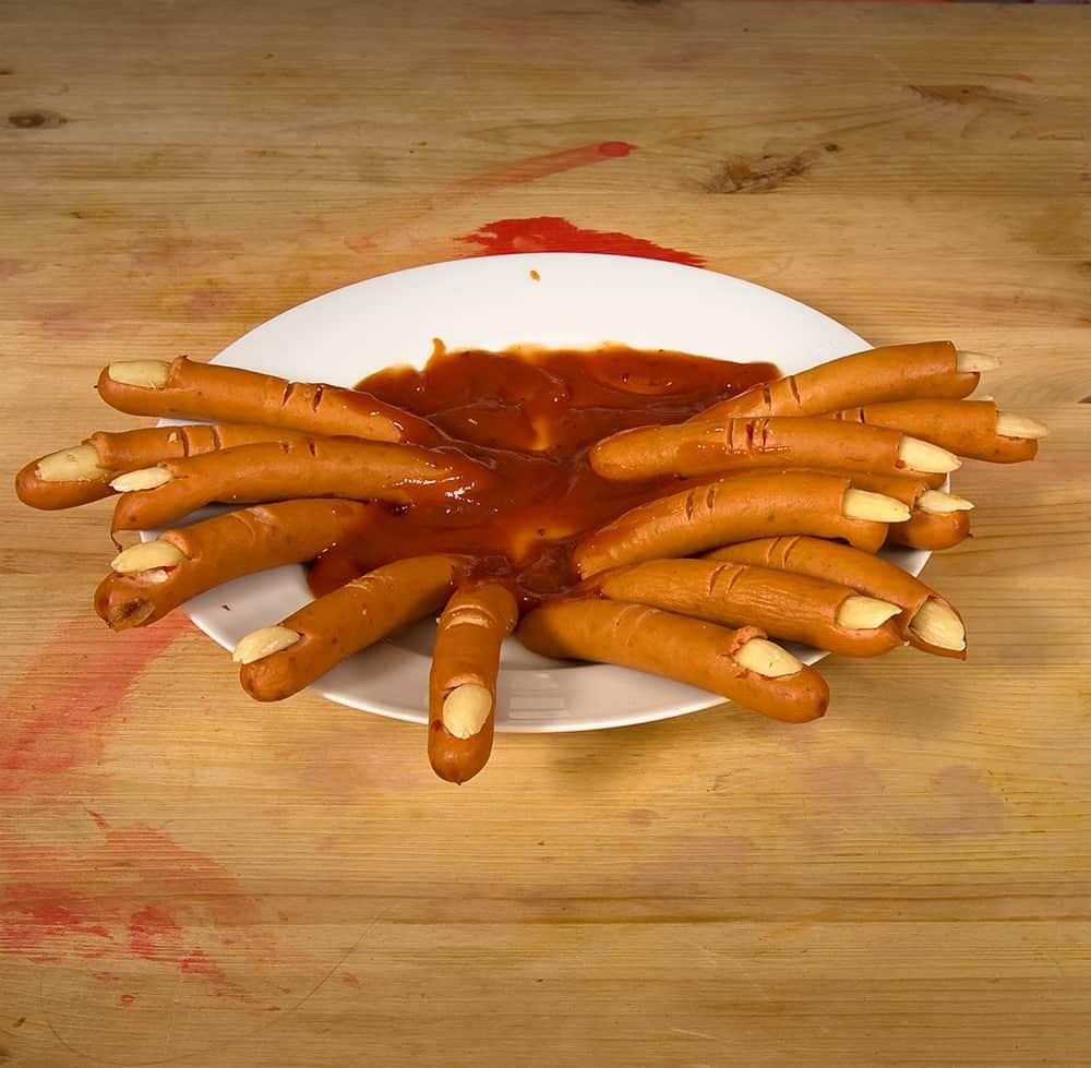 Halloween Rezepte Finger.Halloween Rezept Wurstchen Finger