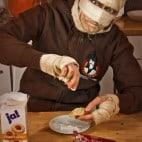 Halloween Rezepte Sarkophag Kuchen: Puderzucker