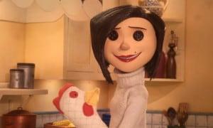 Szene aus dem Film Coraline - Mutter mit Knöpfen