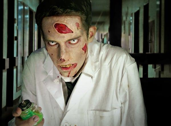 Zombie Make-up zum selber schminken