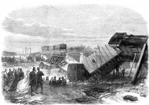 Das Zugunglück von Staplehurst, Zeitungsillustration 1865