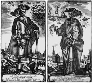 Der Tod als Edelmann und Edelfrau | von Gerhard Altzenbach, ca. 1650