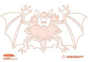Kürbis Schnitzvorlage Fledermaus kostenloser Download