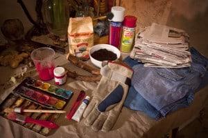 Splatterhose Material