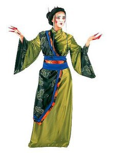Geisha grün Kostüm