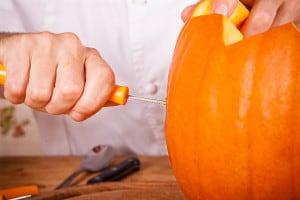 Halloween Kürbis schnitzen Werkzeug