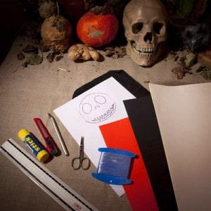 Halloween Girlanden aus Papier basteln - Vorbereitung