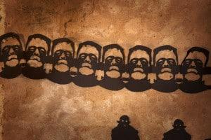 Halloween Girlande basteln: Frankensteins Monster