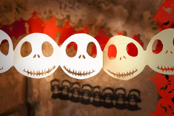 Halloween Deko Basteln Gruselige Halloween Girlanden Aus Papier