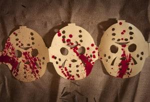 Halloween Girlande Jason Hockeymaske Deko basteln