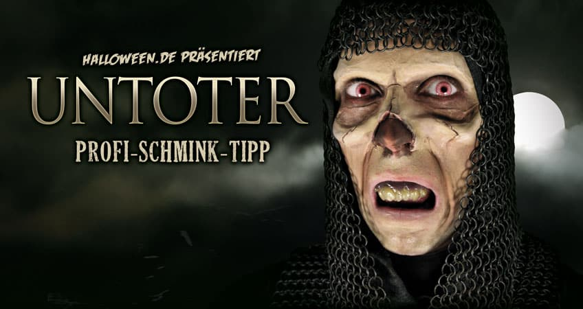 Untoter Profi Make-up Schminkanleitung
