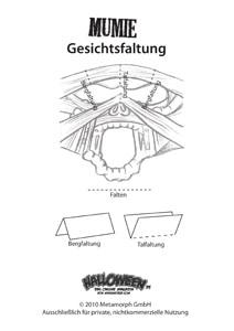 Bastelbogen-Mumie-Gesichtsfaltung-Vorschau