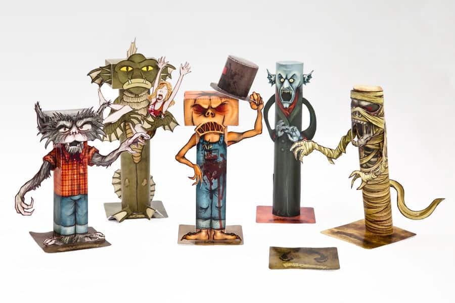 Halloween Monster als Bastelfiguren - Halloween.de - Halloween.de