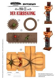 Halloween-Bastelbogen-Kuerbiskoenig-A