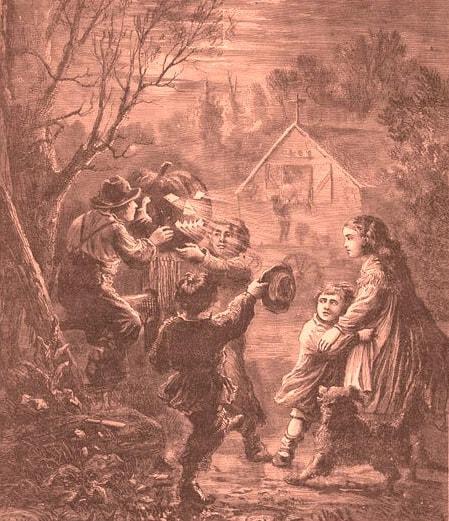 Halloween Geschichte - Illustration aus dem 19. Jahrhundert