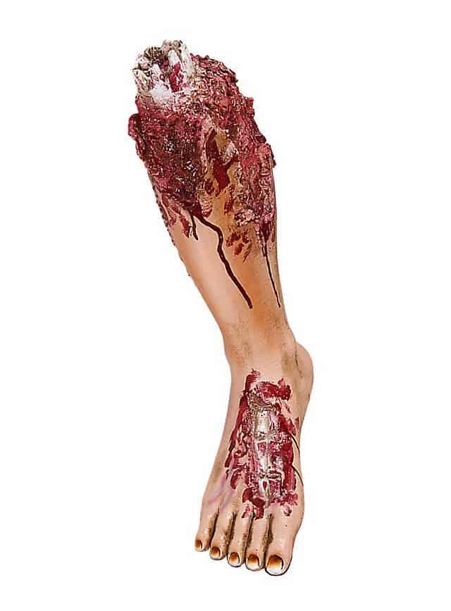 Abgerissenes Bein Halloween Deko Makabere Horror Deko für Halloween Party
