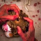 Halloween Girlande aus Puppenkopefen Bauanleitung (2)