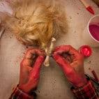 Halloween Puppenkopf Girlande Basteln (14)