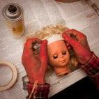 Halloween Puppenkopf Girlande Basteln (2)