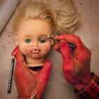 Halloween Puppenkopf Girlande Basteln (9)