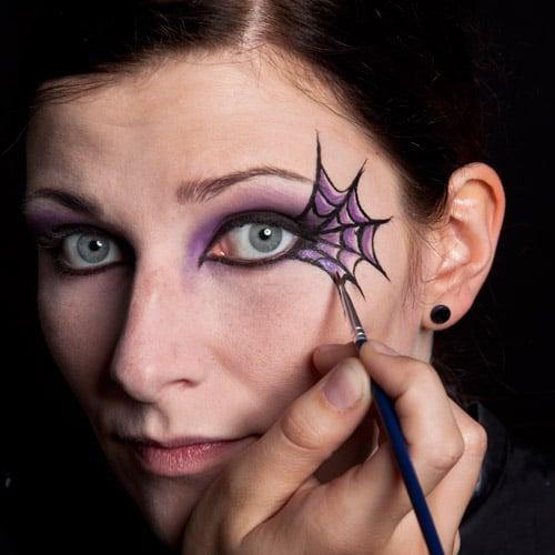 Halloween Make Up Die Schwarze Witwe Sinnlich Und Morbide