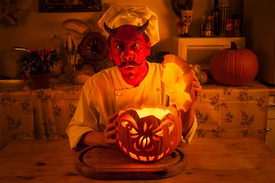 Jack O' Lantern und der Teufel in des Teufels Küche