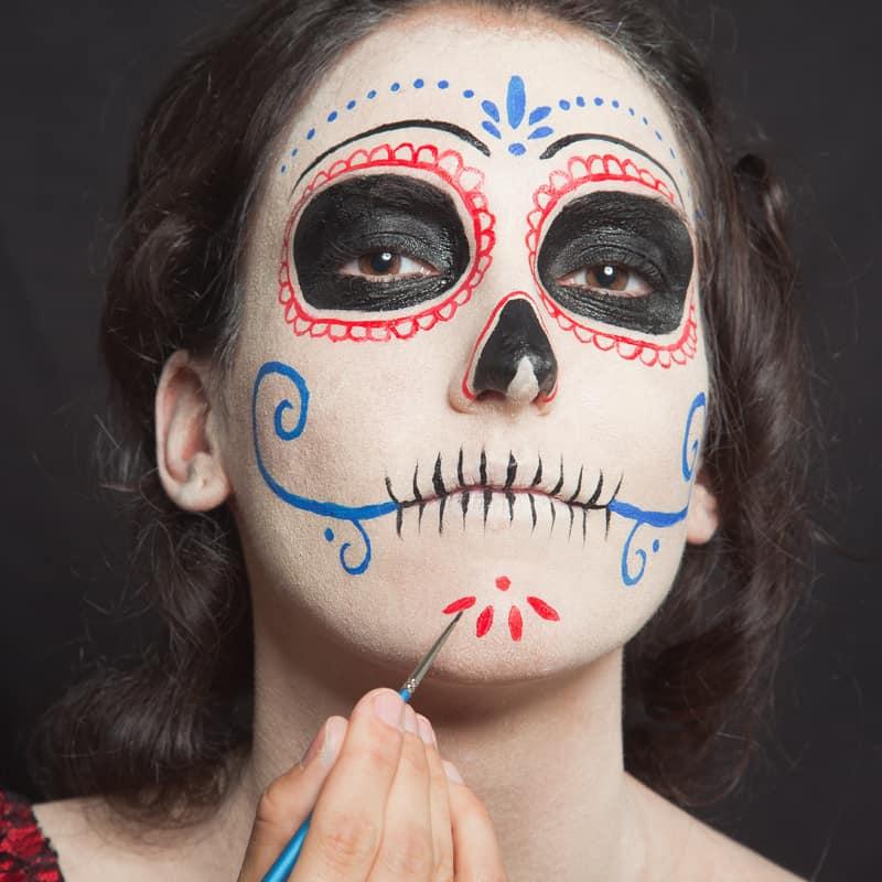 Dia De Los Muertos Make Up Schminkanleitung Fur Halloween