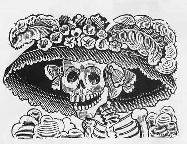 La Catrina mit Hut