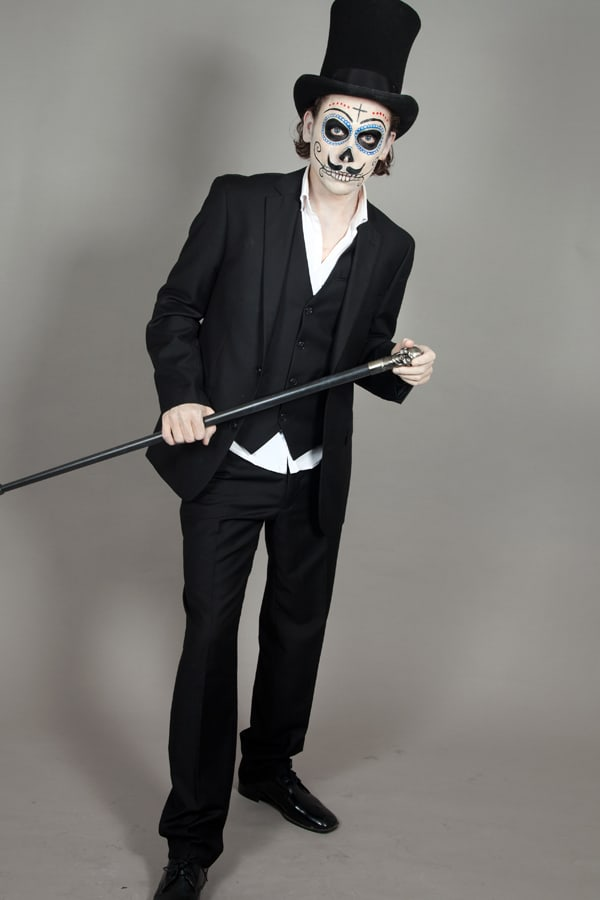 Halloween Schminkanleitung Dia de los Muertos Mann