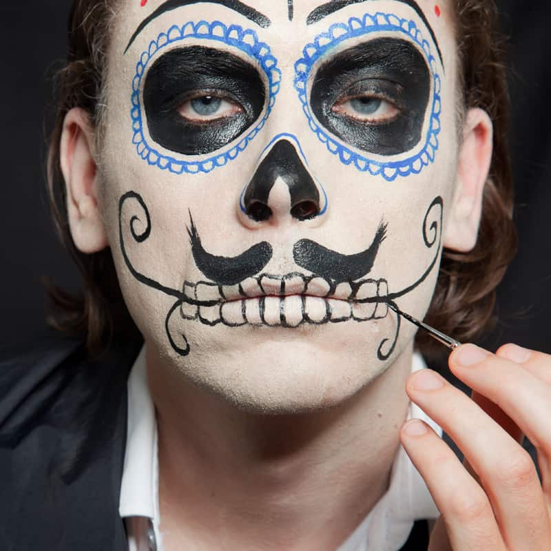 Male Day Of The Dead Makeup - Mugeek Vidalondon