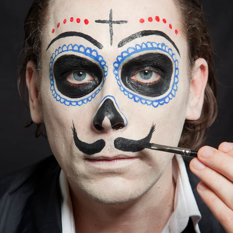 Schminkanleitung Dia De Los Muertos Make Up Halloween De