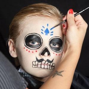 Dia de los Muertos Make Up Schmink-Anleitung Junge (10)
