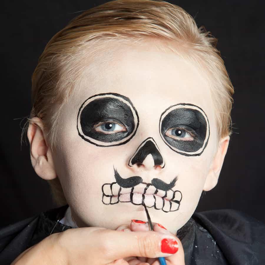 halloween kinder schminken d a de los muertos make up. Black Bedroom Furniture Sets. Home Design Ideas