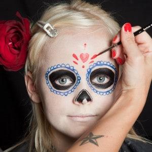 Dia de los Muertos Make Up Schmink-Anleitung Mädchen (7)
