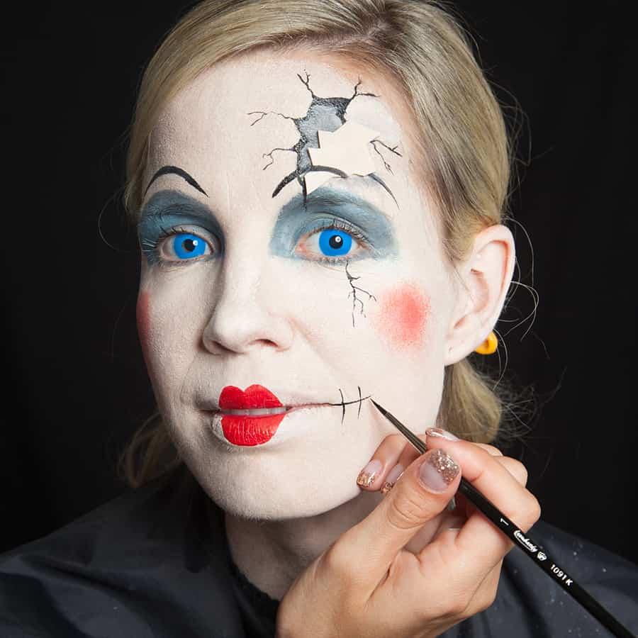 Broken Doll Make Up Halloween De