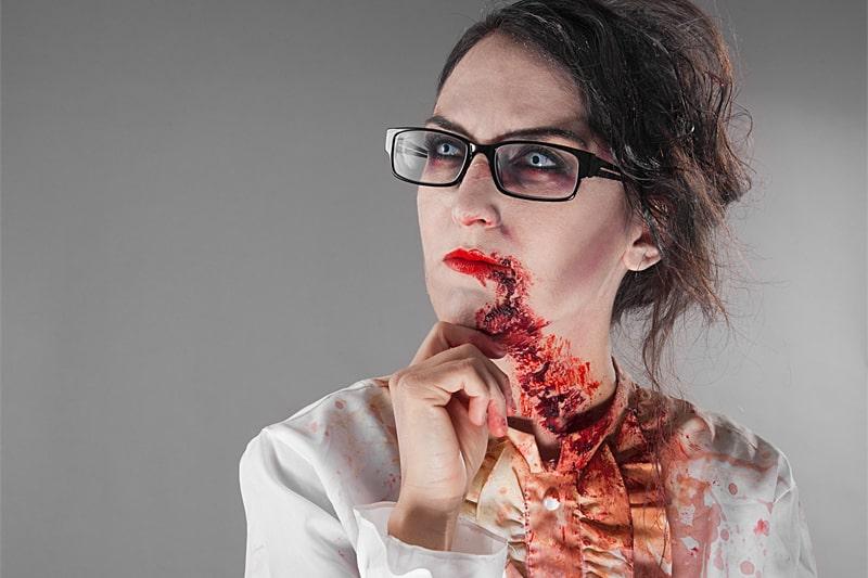 Wie schnminke ich mich zum Zombie? Wie zeigen es dir!