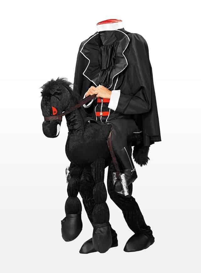 Kopfloser Reiter mit Pferd Kostüm