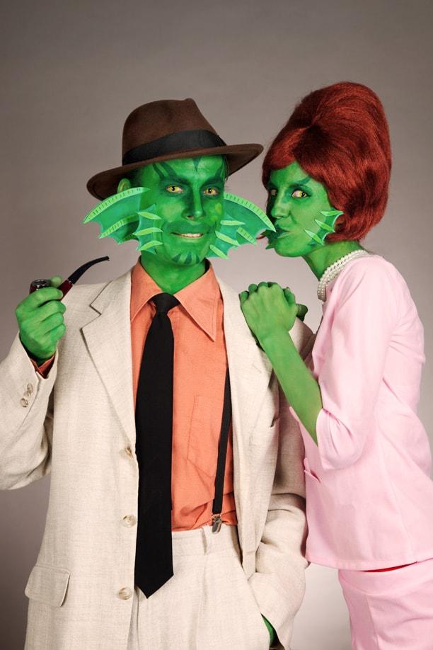 Mittelpunkt jeder Halloween Party: Familie Kiemenmensch