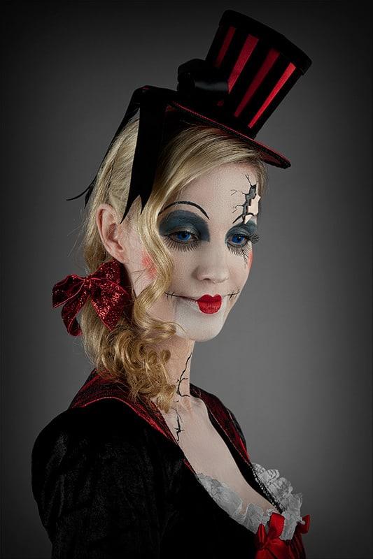 Halloween Make-up Broken-Doll Porträt 2