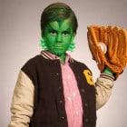 Lustiges Halloweenkostüm für Kinder: Der kleine Kiemenmensch