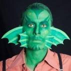 Halloween Make-up Kiemenmenschen Schminkanleitung 50