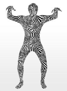 Morphsuit Zebra Ganzkörperkostüm