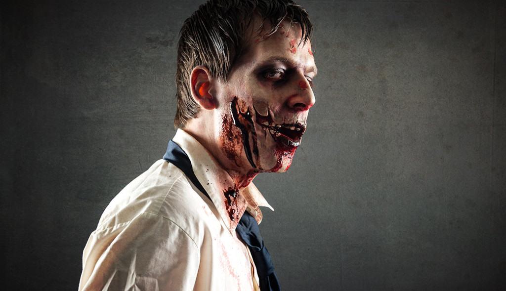 Effektvolle Zombie Wunde zum schocken der Lebenden