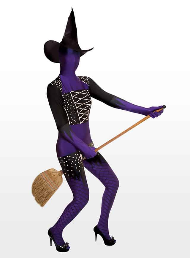 Morphsuit Violette Hexe Ganzkörperkostüm-107720