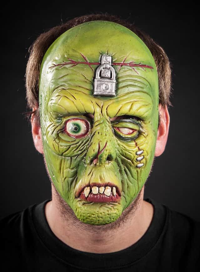 Zombie Hirni Maske aus Latex-117639