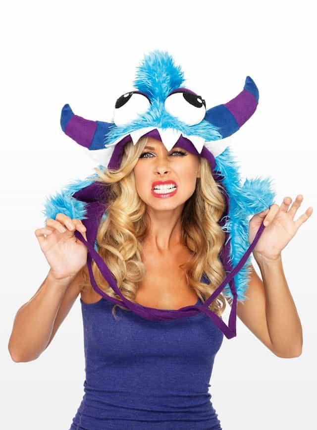 Blaues Grummel-Monster Mütze
