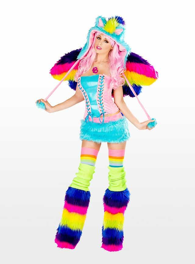Sexy Rainbow Pony Premium Edition Kostüm