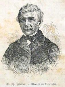 Der Sylter Chronist, Lehrer, Heimatforscher und Volkskundler Christian Peter Hansen | Quelle: Wikipedia