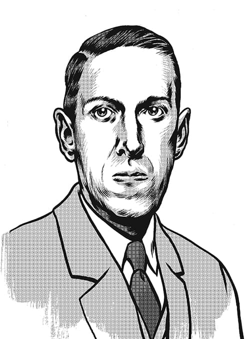 Lovecraft Vom Jenseits Porträtt